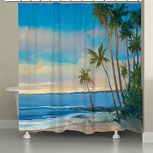 tropical shower curtains laural home 174 tropical shower curtain bed bath