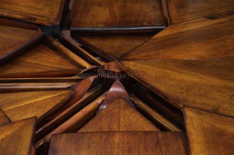 round walnut round to round solid walnut jupe dining with hidden