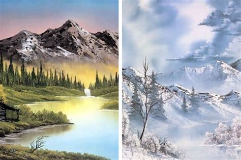 bob ross paints in canada which bob ross painting are you