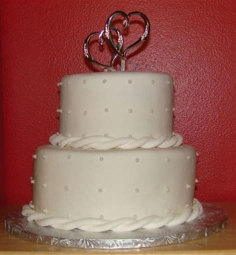 Small Wedding Cakes by Small Wedding Cake W Edible Pearls Cakecentral