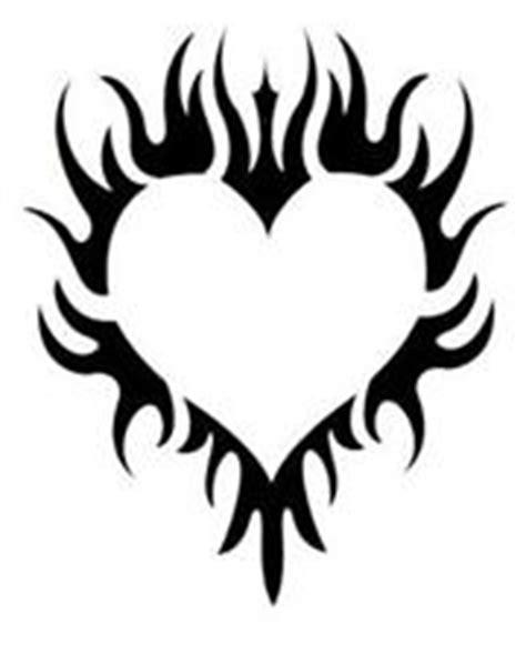 imagenes corazon rockero dise 241 os en blanco y negro para tatuajes de corazones