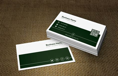 green business card template retro black white green business card template free