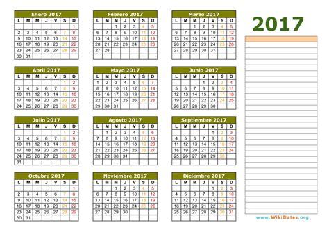 calendario 2017 calendario de espa 241 a 2017