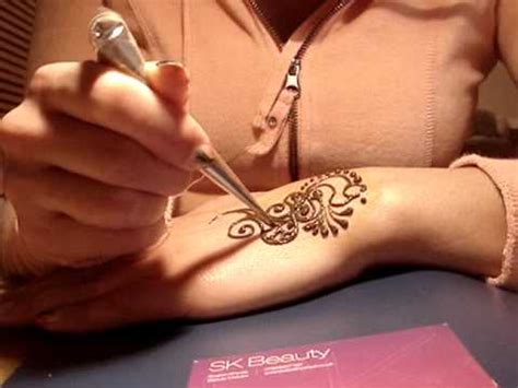 simple henna design youtube