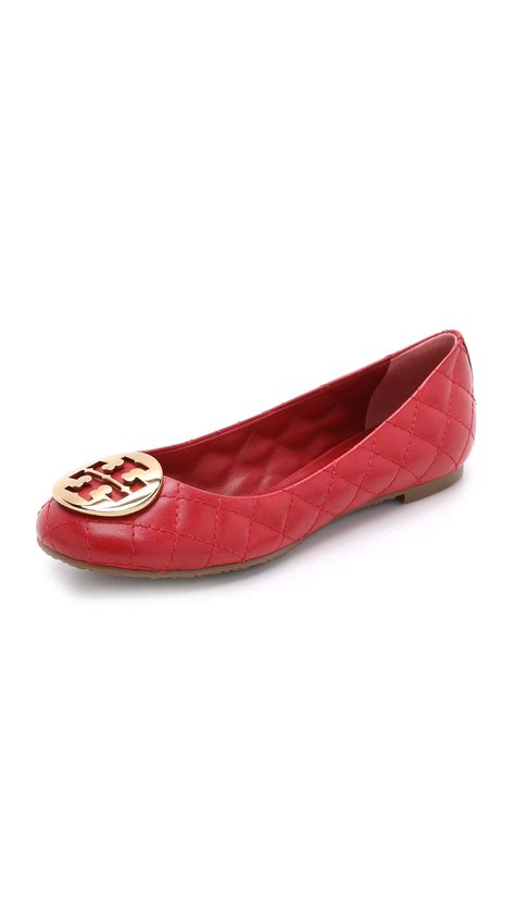 Burch Quilted Flats by Burch Quinn Quilted Ballet Flats Cerise In Lyst