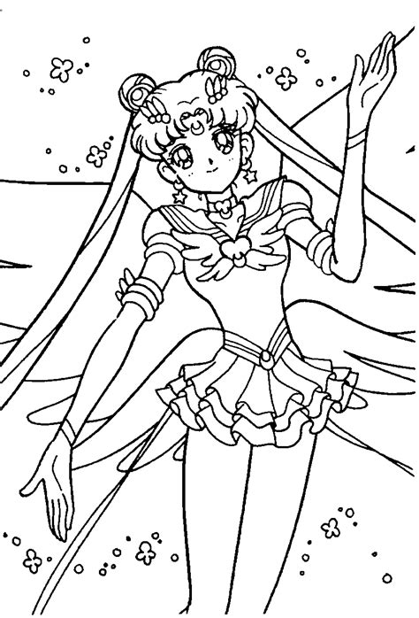 sailor moon color free printable sailor moon coloring pages for