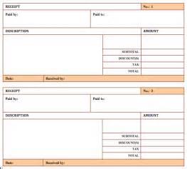 hotel receipt template format amp template