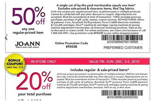 does joann fabrics accept competitor coupons