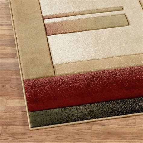 Modern Rug Runner Modern Composition Rug Runner Beige 2 1 Quot X 7 2 Quot Touch Of Class