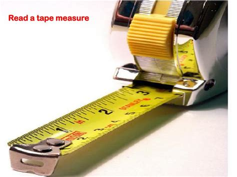 show tape measure reading powerpoint ppt read a measure powerpoint presentation id 5566536