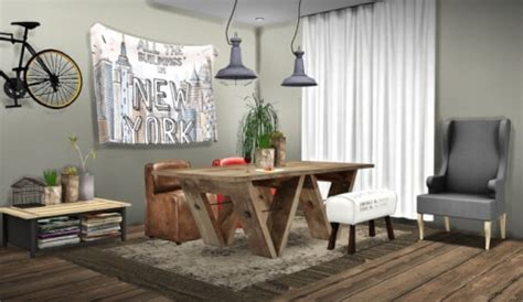 Dining Room Set For 4 spring4sims dining rooms