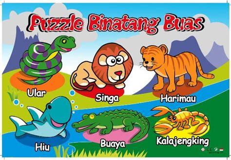 Mainan Anak Seri Hewan Serangga Dan Hewan Melata puzzle stiker seri binatang buas mainan kayu