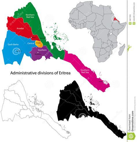 eritrea map de kaart eritrea vector illustratie afbeelding