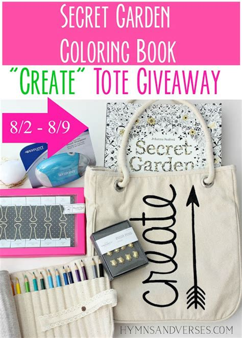 the secret garden coloring book barnes and noble secret garden coloring book create tote giveaway hymns
