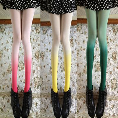 Retro Tights retro gradient color tights