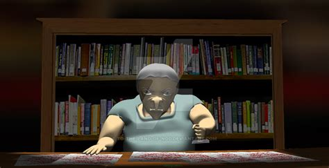 angry librarian angry librarian 3d still 2 by to the land of nod on