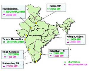 nuclear power plants in map india the real power india the future nuclear potential