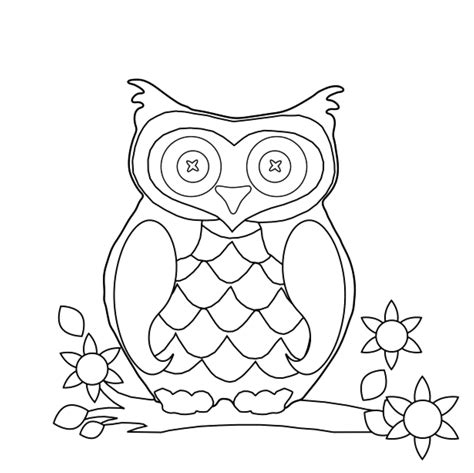coloring pages with owl owl coloring pages preschool coloring home