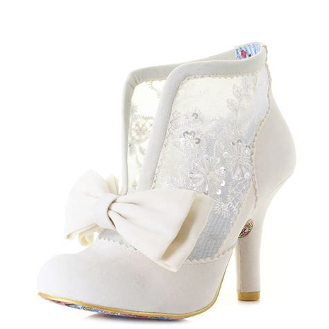 Wedding Shoe Boots by Womens Irregular Grin And Tonic White Lace Wedding