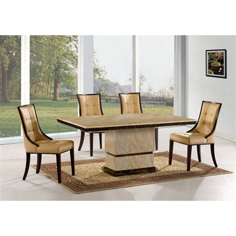 Dining Table Sets Marble Wilkinson Furniture Marcello Marble Rectangular Dining Table With 6 Brown Leather Chairs