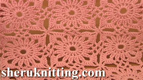 crochet motif pattern free invisible method of square motif joining crochet tutorial