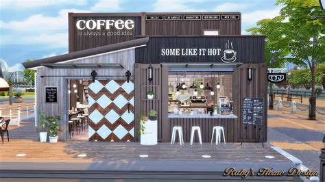 4 home design store sims4 container coffee shop ruby s home design