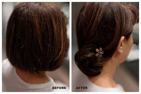 hair color put your picture diy how to put up a chignon when you have short hair