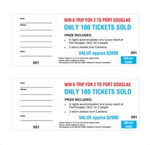 Template For A Ticket by Sle Raffle Ticket Template 20 Pdf Psd Illustration