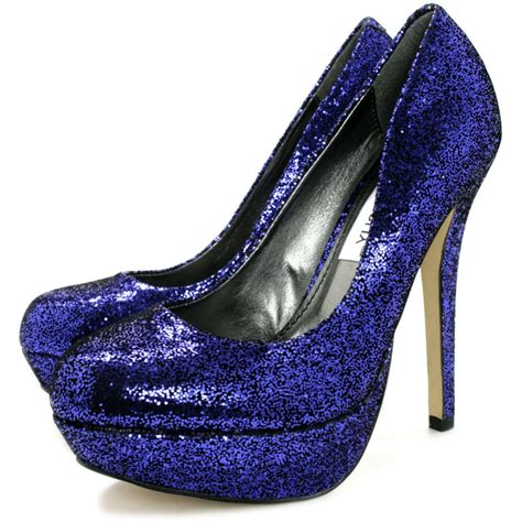 blue sparkly shoes for sparkly blue heels heels me