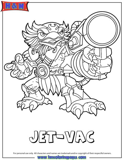 skylanders coloring pages jet vac skylanders giants air series1 jet vac coloring page h