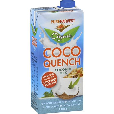 coco quench pureharvest coco quench coconut milk 1l woolworths