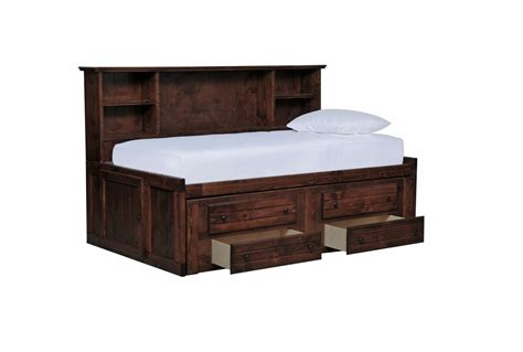 room saver sedona roomsaver bed w 2 drawer captains trundle living spaces