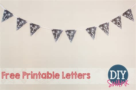 up letter with snow free printables diy swank