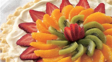 easy fresh fruit dessert recipes easy fresh fruit dessert pizza recipe from pillsbury