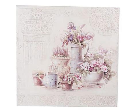 fiori shabby antica soffitta pannello sta 80cm targa quadro vasi