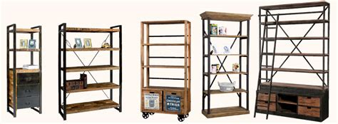 librerie vendita on line librerie stile industriale prezzi on line legno ferro