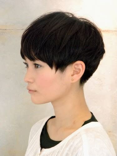 short pixie hairstyles for people with big jaws ミニマムショートボブ ショート short pixie round haircut and great