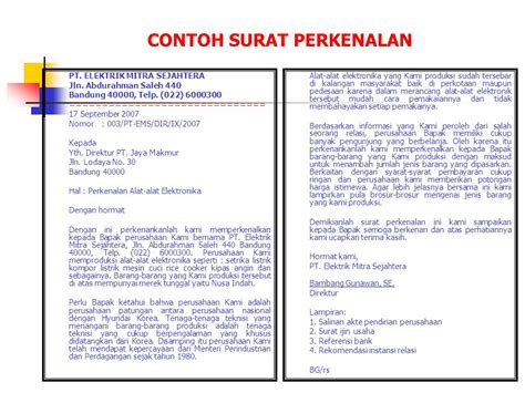 Surat Permintaan Perusahaan by Surat Niaga Bisnis Pengertian Ppt