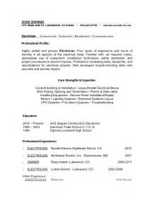 how to make a electrician resume industrial electrician resume sample