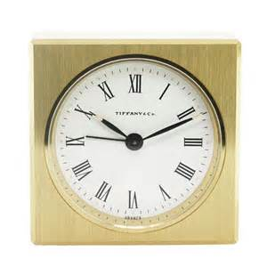 co solid brass square alarm desk table clock