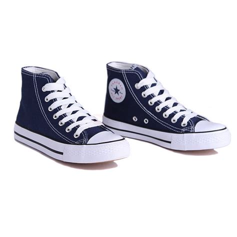 casual flat high top canvas shoes for