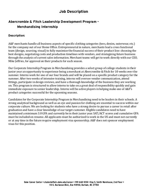 Academic Support Cover Letter by Undergraduate Student Cover Letter Exle Abercrombie Fitch