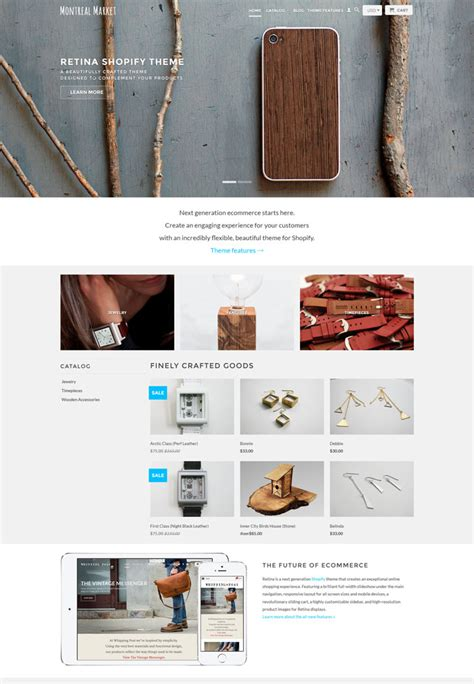 shopify themes retina premium ecommerce shopify multipurpose themes