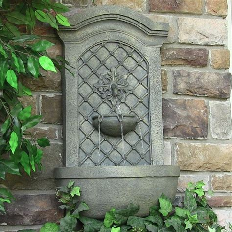 rosetta leaf solar wall mounted water fountain natures