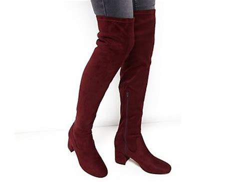 New Look Suedette Knee High Boots by Best Knee High Boots 163 70