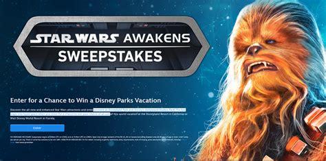 Disney January Sweepstakes - disney parks star wars awakens sweepstakes