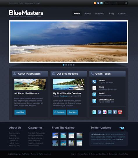 Psd Website Templates Free High Quality Designs Designrfix Com Web Layout Templates