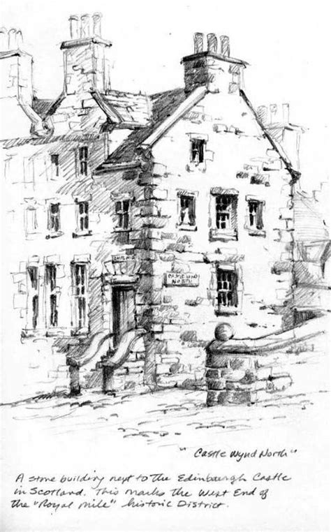 Drawing Near by Pencil Sketchbook Drawing Near Edinburgh Castle Sketch