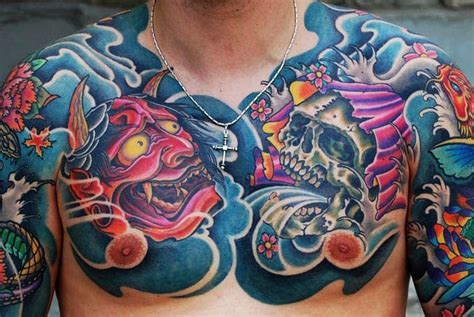 oriental tattoo on chest 15 striking japanese chest tattoos tattoodo