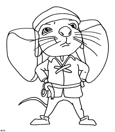 tale of despereaux coloring pages coloring home